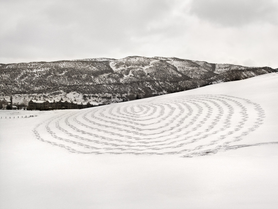 Sonja Hinrichsen. Snow Drawings, Snowmass Village, Colorado 2009