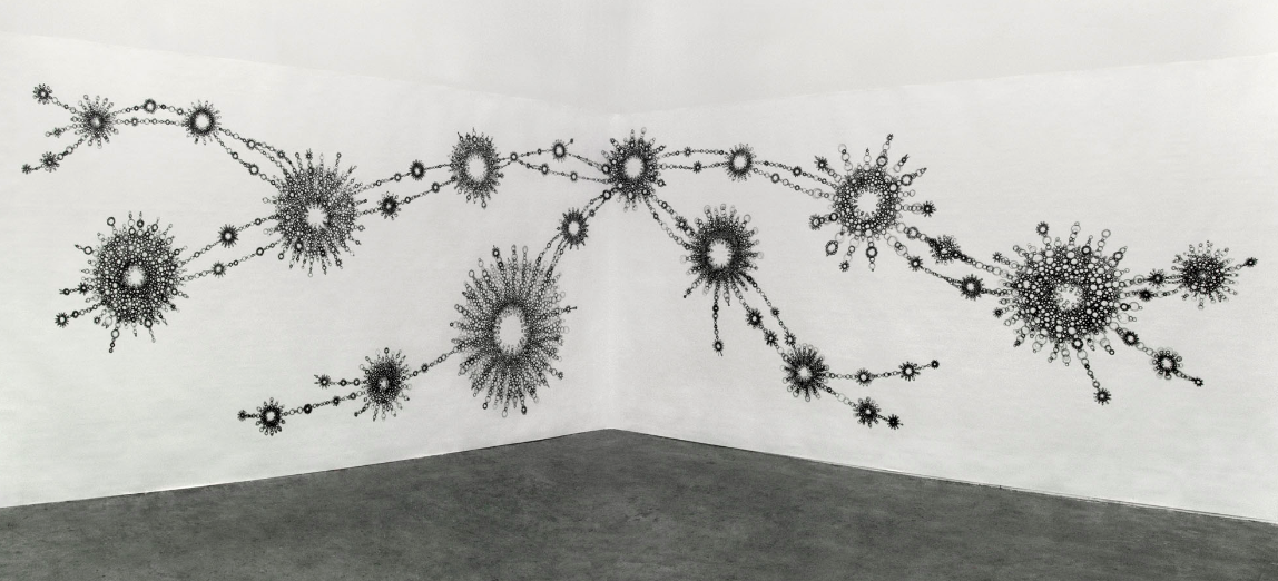 Sonja Hinrichsen. Wall-size drawing.