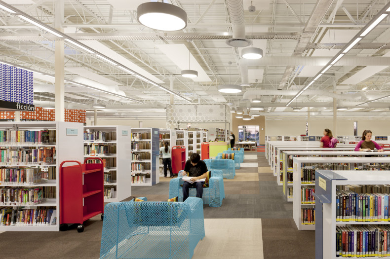 McAllen, Texas' new main library is located in a converted Walmart store. Photo by MSR.