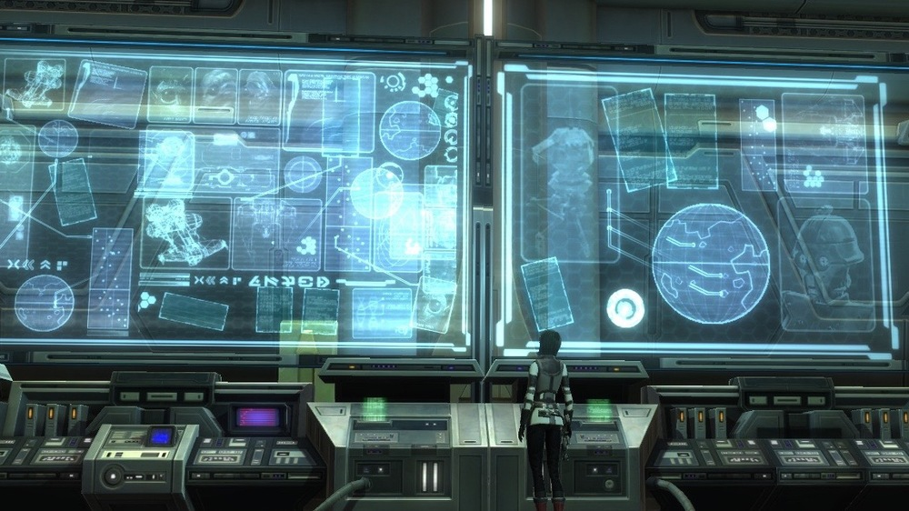 Being too connected. Image from gameplay in Star Wars: The Old Republic.
