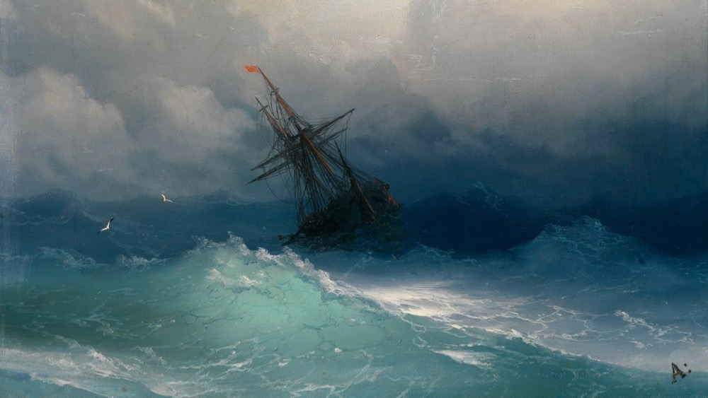 "Image Credit: ""Ship On A Stormy Sea,"" Ivan Aivazovsky"