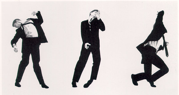 Robert Longo drawing. Once In A Lifetime, 1980