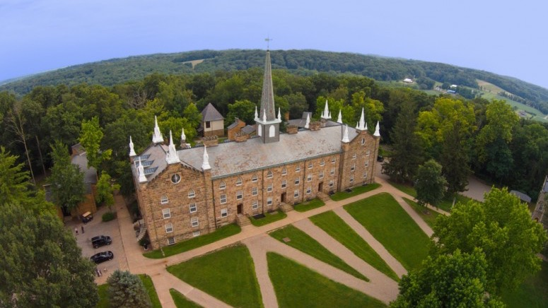 Old Kenyon from the air, from Kenyon.edu