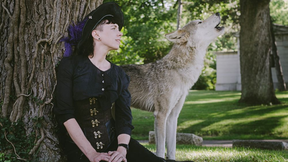 Me and Cana. Photo by Ironwood Wolves, taken at Greenlawn Cemetery - July 2016