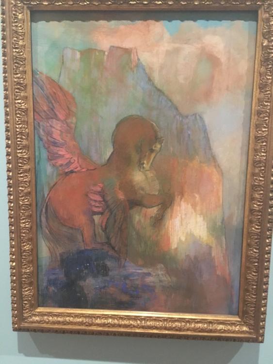 """""""Pegasus"""" by Odilon Redon."""