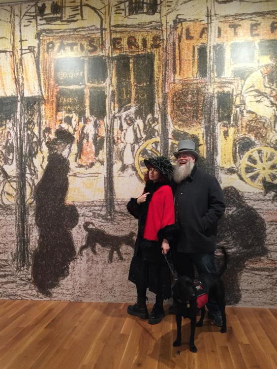 James, Stella, and I at the Beyond Impressionism exhibition. Columbus Museum. 1/7/18