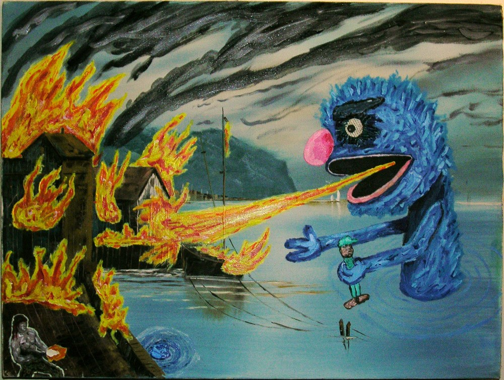 Giant Grover Gets High as Fuck on PCP and Wiles Out on Rambo's Favorite Fishing Getaway
