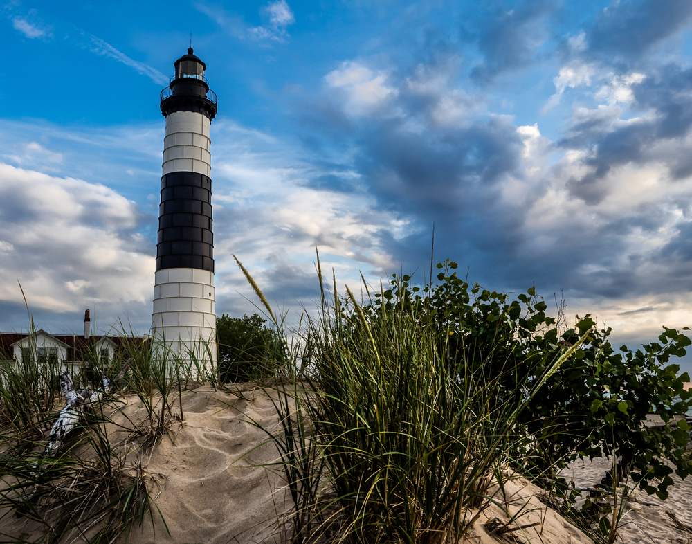 Big Sable Point Lighthouse, Taken with Olympus E-M1 and M. Zuiko 12-40mm 2.8