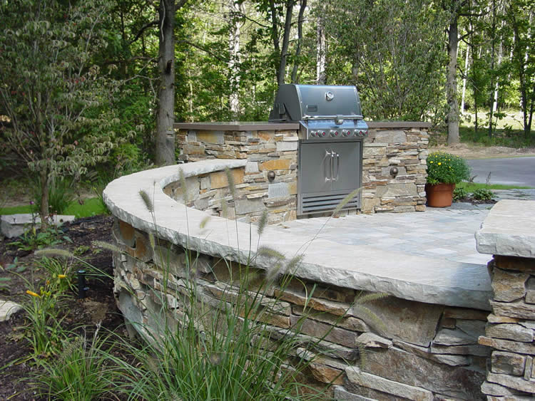 concrete grill outdoor kitchen