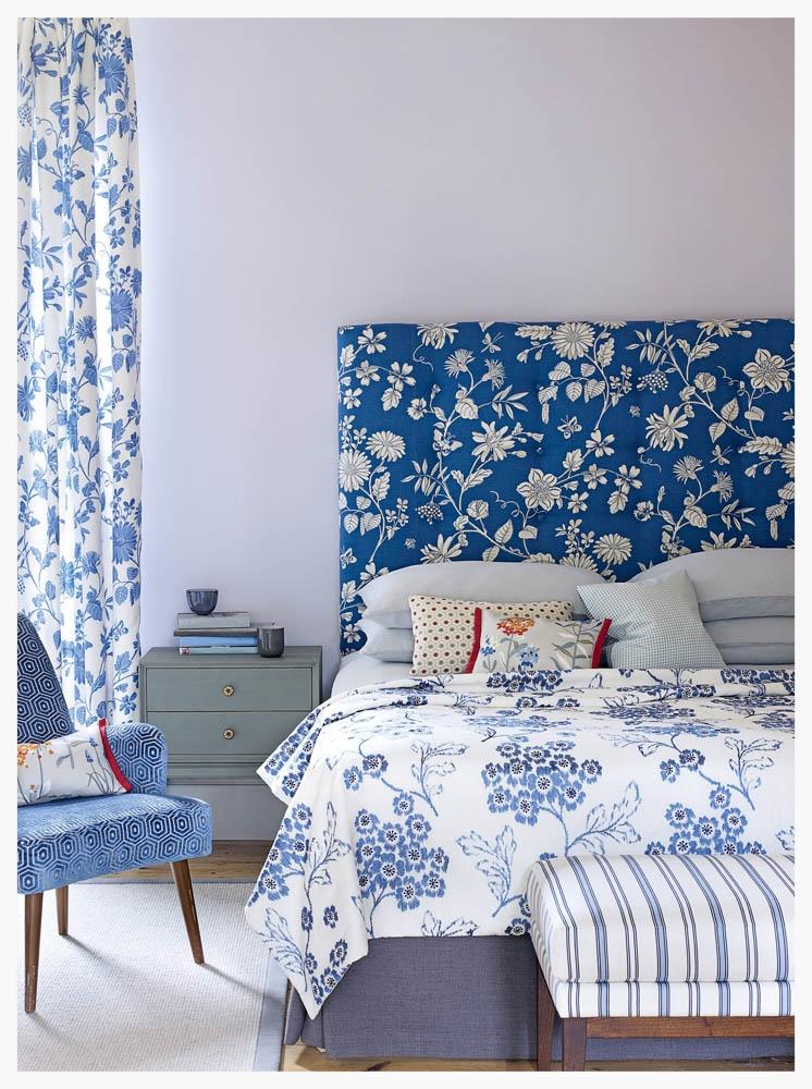 Custom-made upholstered bedding