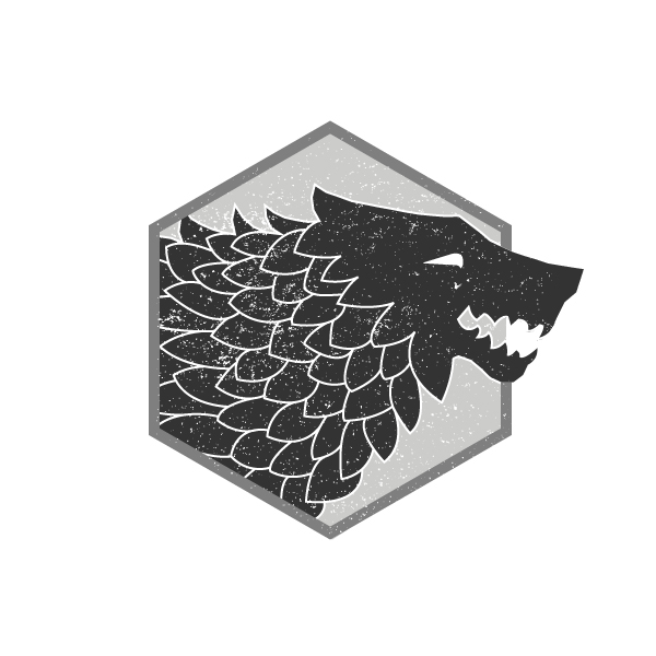 """Game of Thrones"" Direwolf illustration for personal style development."