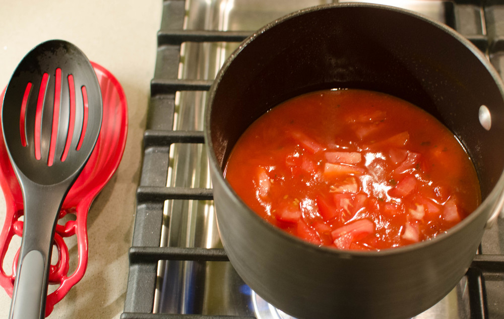 Photo by kevin twitty - tomato basil soup with tomato chunks added