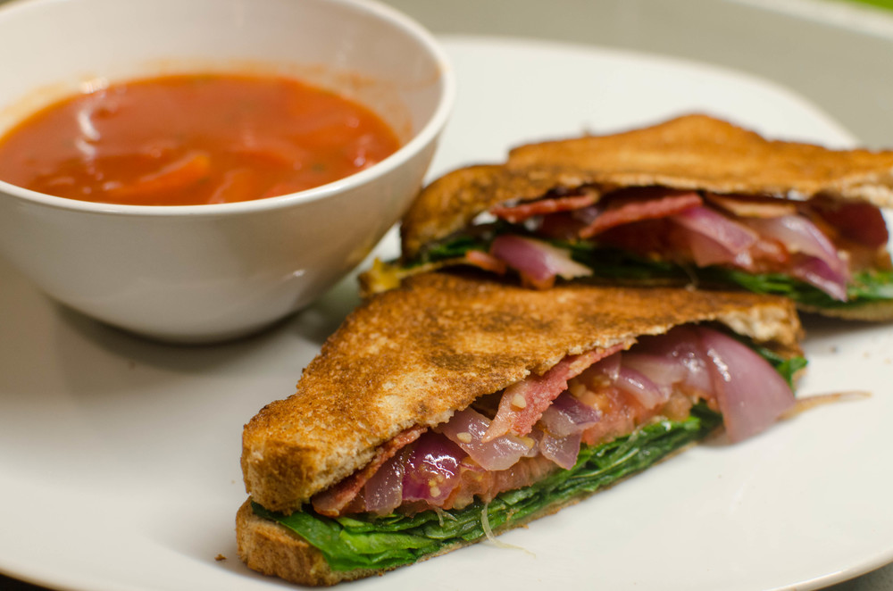Photo by Kevin Twitty - Completed Soup and BLT Grilled Cheese