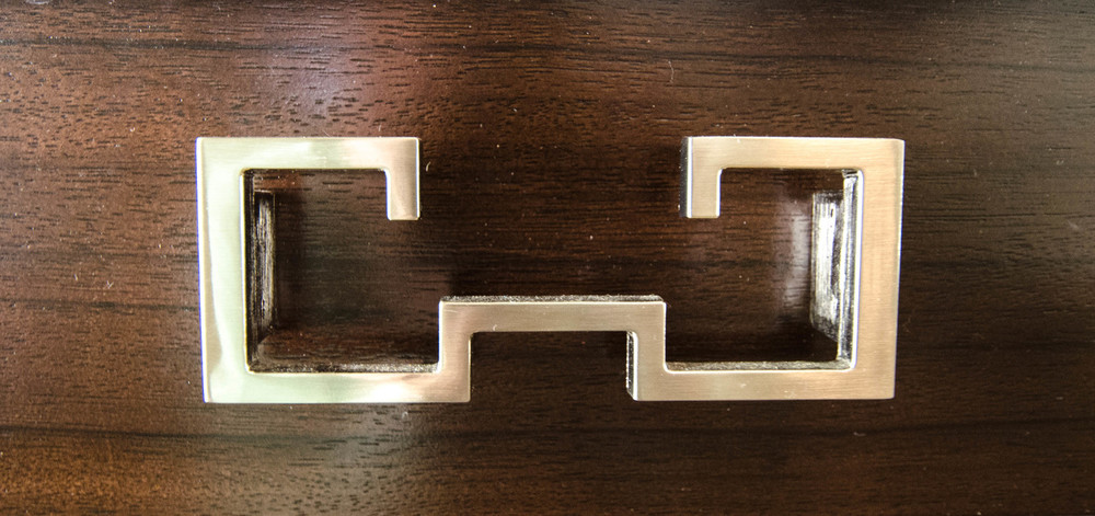 Interesting modern chrome cabinet hardware