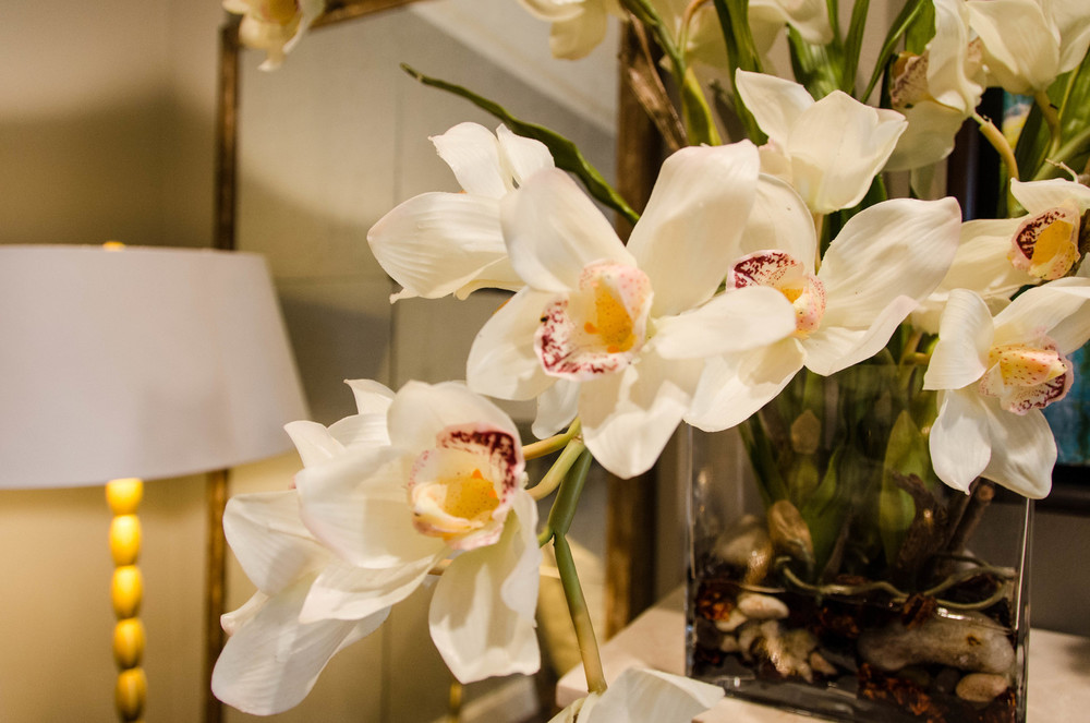 White orchid fake floral