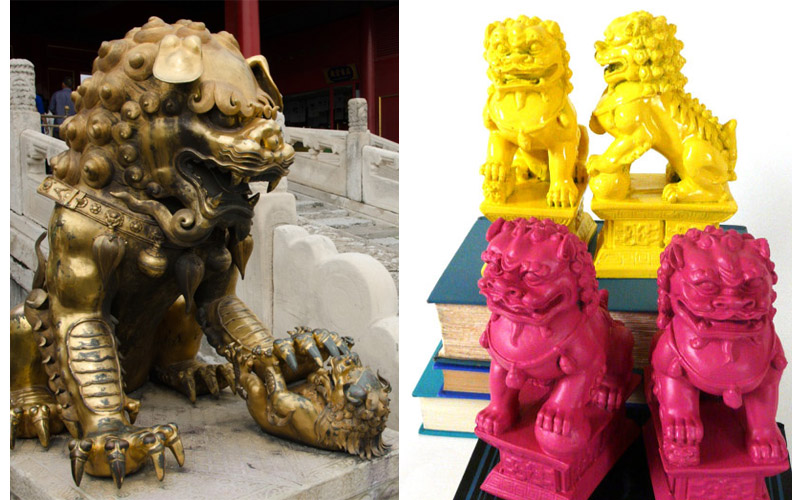Foo dogs are another great traditional Chinese sculpture you now see in modern day decor.