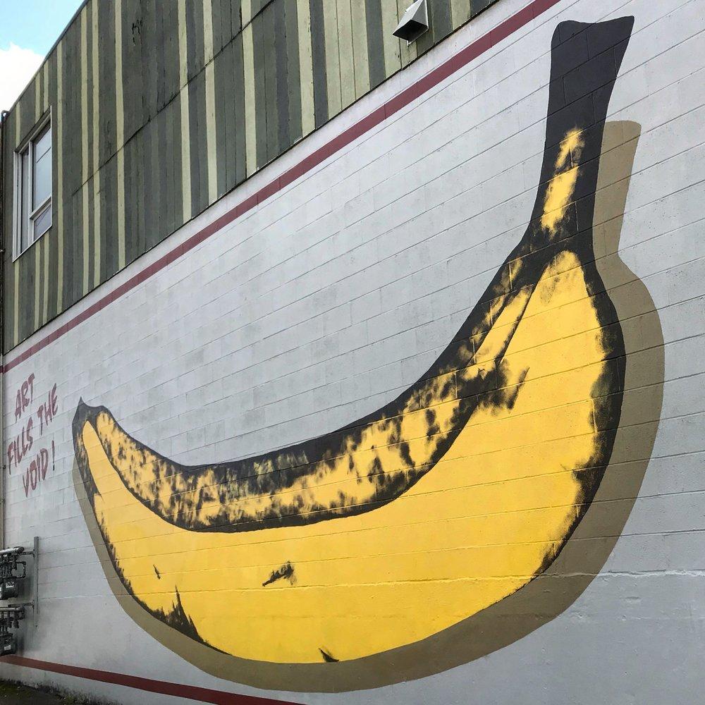 Banana street art
