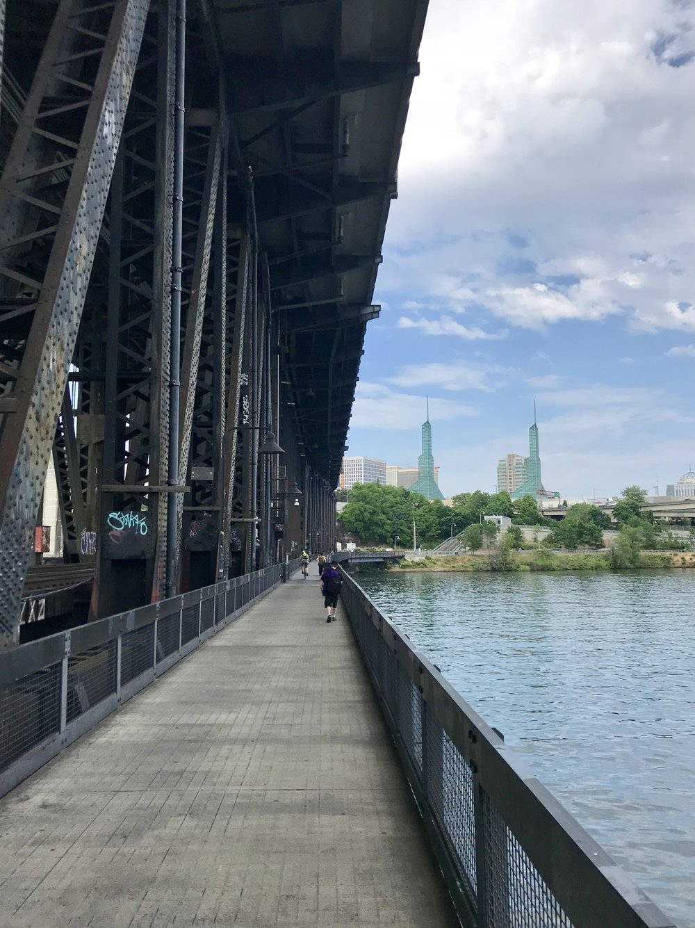 Steel Bridge pedestrian crossing