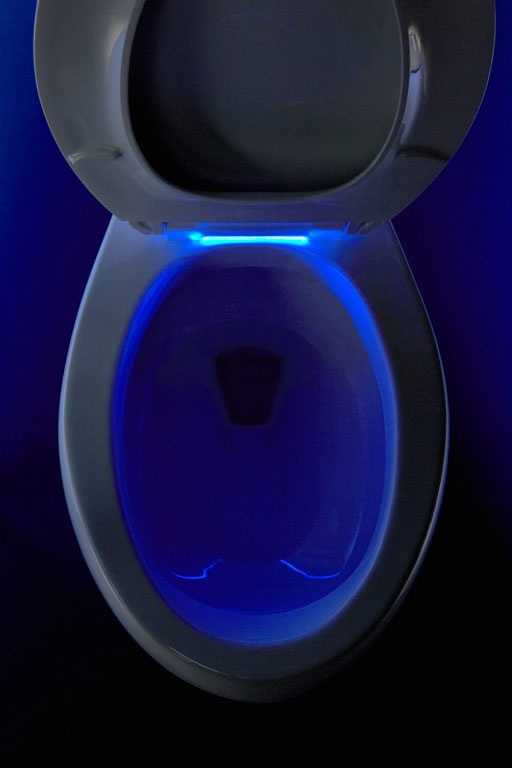 Toilet with light