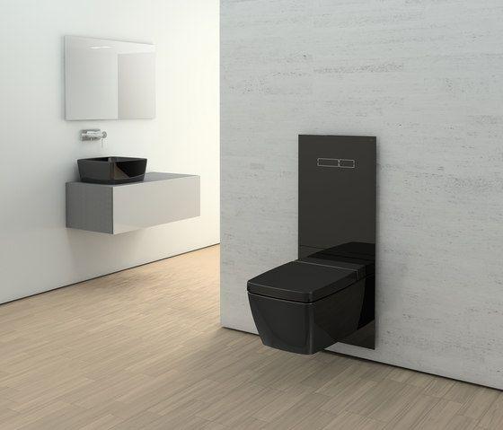 Modern matte black toilet