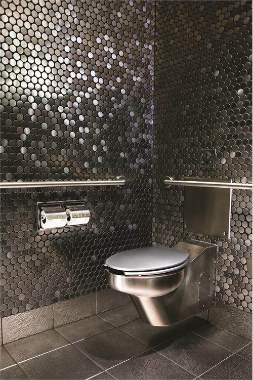 Chrome toilet