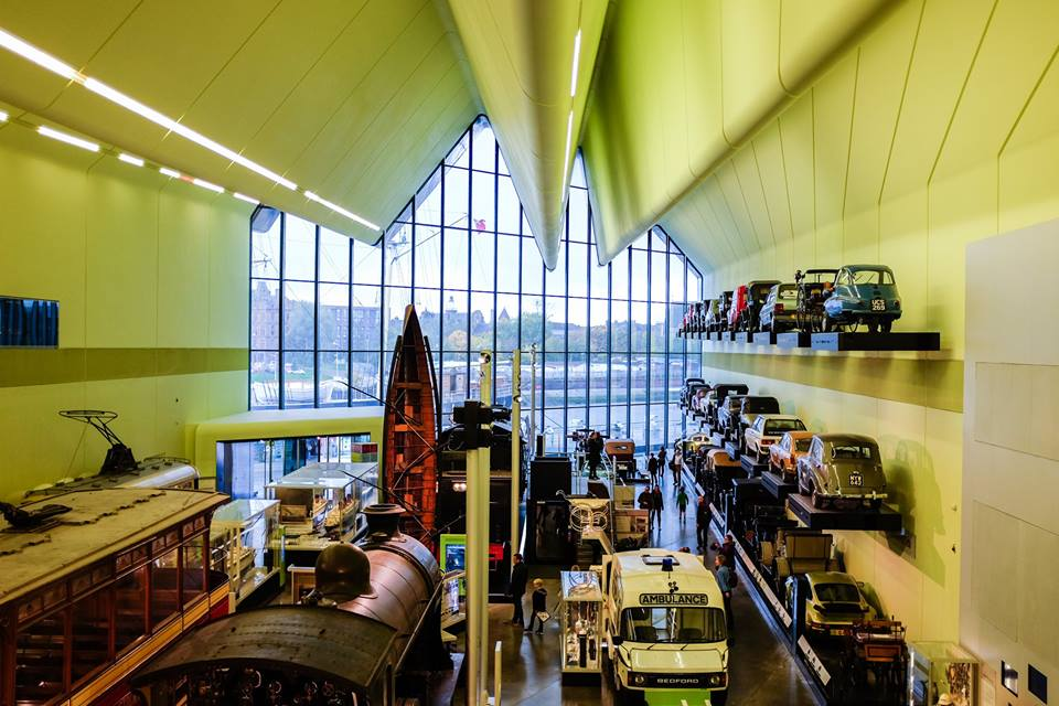 Inside Riverside Museum in Glasgow, Scotland