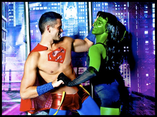 My battle with depression, represented here by my friend Victor as The She Hulk.
