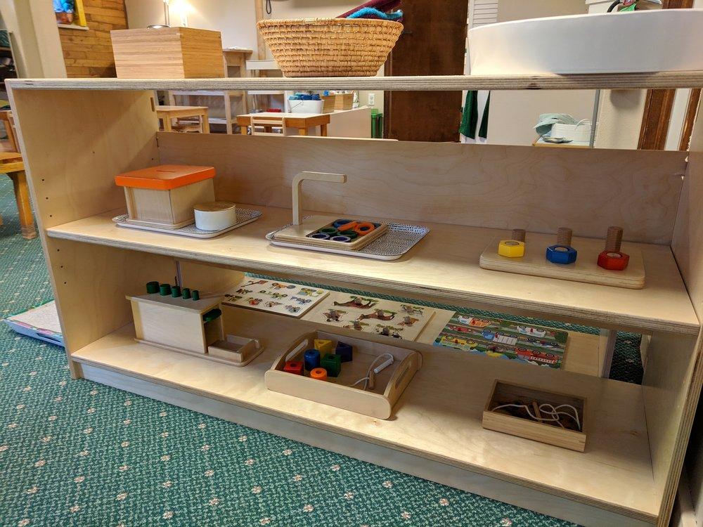 Manipulatives Shelf The Montessori School of Evergreen 2019