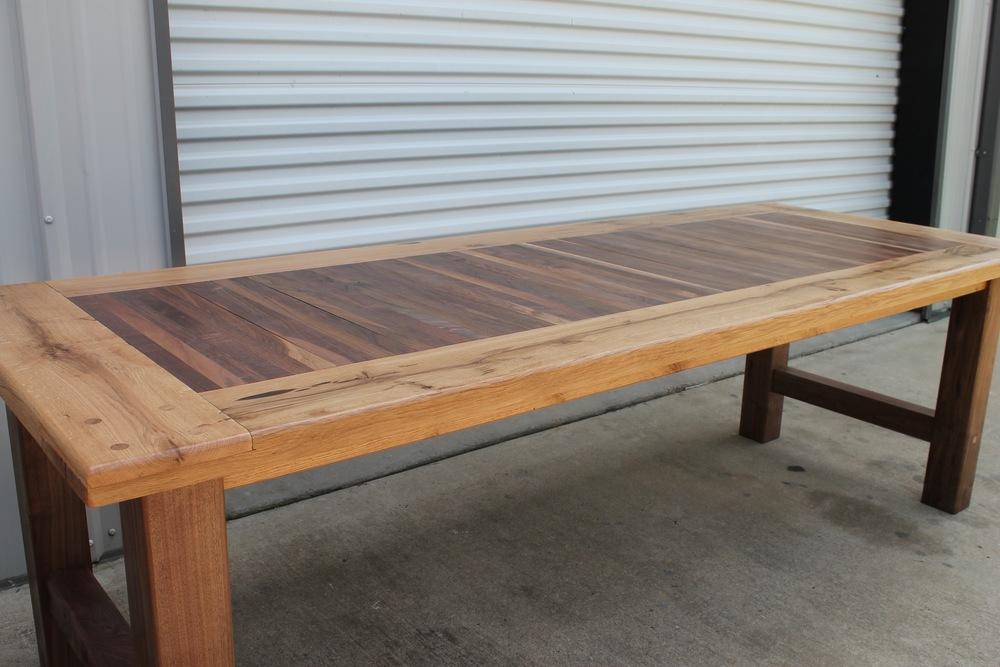 Walnut And Chestnut Oak Farmhouse Table