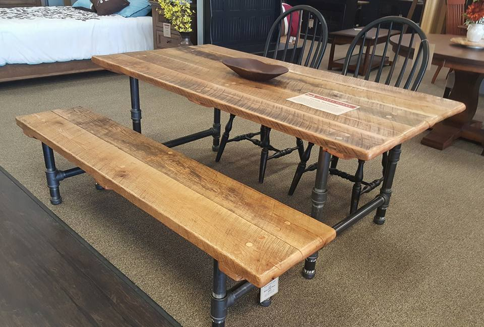 Charming ... Picnic Table Watchthetrailerfo Creations Rustic River Creations Rustic  Industrial Farmhouse Table Watchthetrailerfo ...