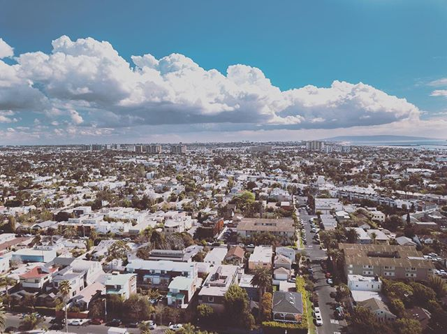 Drone shot of Venice Beach. #dji #mavicpro #dronephotography #drone #venicebeach #clouds #sky #fromabove