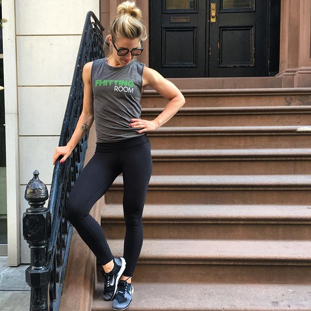 New @fhittingroom muscle tanks dropping today! Get yours at one of our studios and flash your guns on a stoop near you, NYC! #liveFHIT #💚