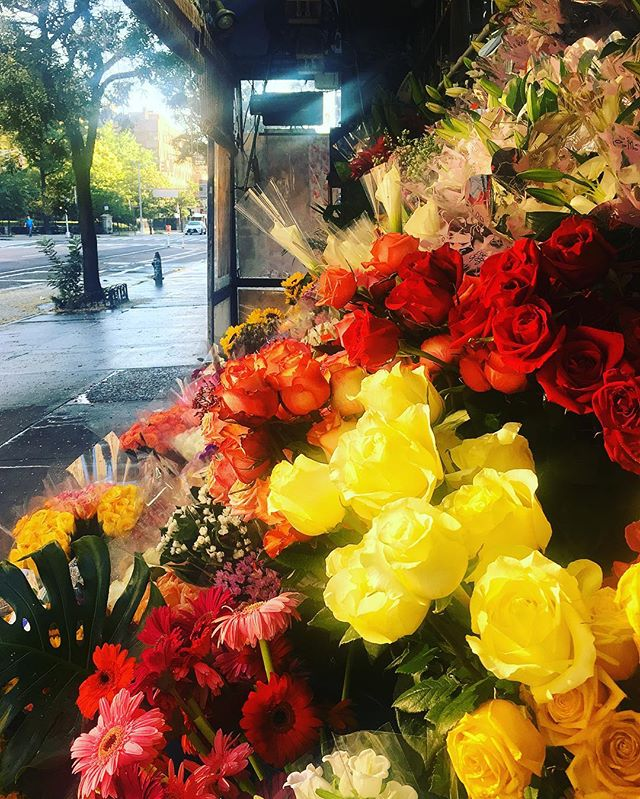 The guys that own my corner bodega are from Bangladesh and say that's why their shop always has the best flowers and mangoes in the city. They also think I'm strange because I'm the only non-drunk person in the place at 5am on the regular. #fitness #eastvillage #coffeeandflowers #saturdays