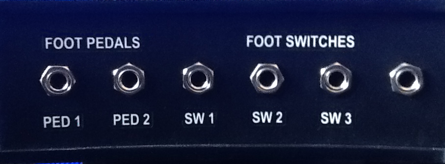 FOOT PEDALS & SWITCHES JACKS