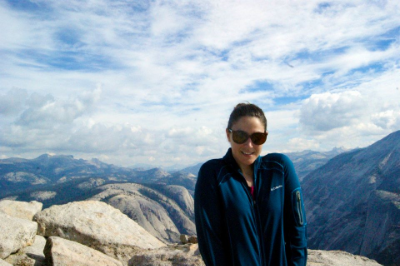 Proof I was on Half Dome. It was cold and very, very high up.