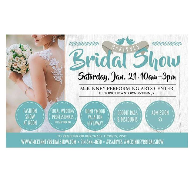 We are excited to be a part of the Mckinney Bridal Show. Come visit us!  #isaidyes#mckinneybridalshow#texasbrides#engaged#dallastexas#dallasbrides#soontobemrs#mckinneytexas#hairandmakeupartist#bridalglamsquad