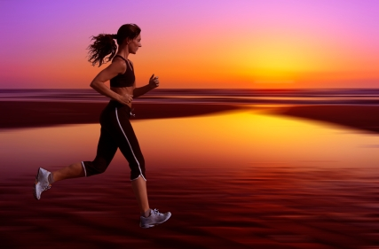 Runner at sunset