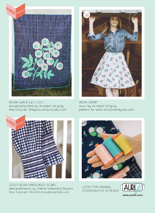 This tutorial was featured in the Windham Fabrics Lookbook for Annabel Wrigley's Maribel Line