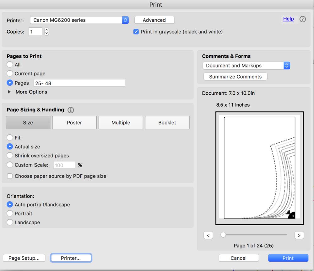 How to print a PDF sewing pattern — Little Stitch Studio