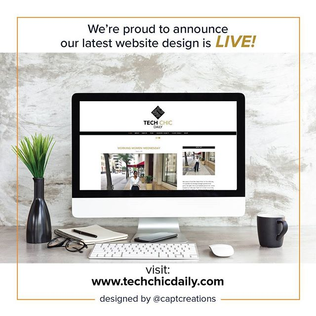 We're excited to announce the launch of the logo and blog we designed for Tech Chic Daily is LIVE! Head over to www.techchicdaily.com to take a look and let us know what you think. Tech Chic Daily provides women empowering content concerning career, flight deals, tech news, healthy hair, beauty, and fashion tips. . . . #logo #logodesign #logoreveal #design #graphicdesign #graphicdesigner #logodesigner #brand #brandreveal #branding #dallasbranding #website #websitelaunch #websitedesign #squarespace #squarespacedesign #squarespacedesigner #websites #logonew