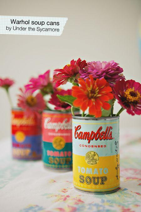 vintage soup cans