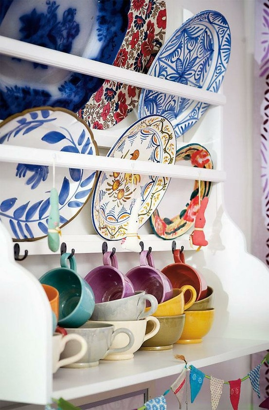 colorful kitchen china