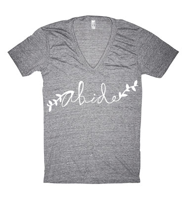Hand Lettered Abide T-shirt