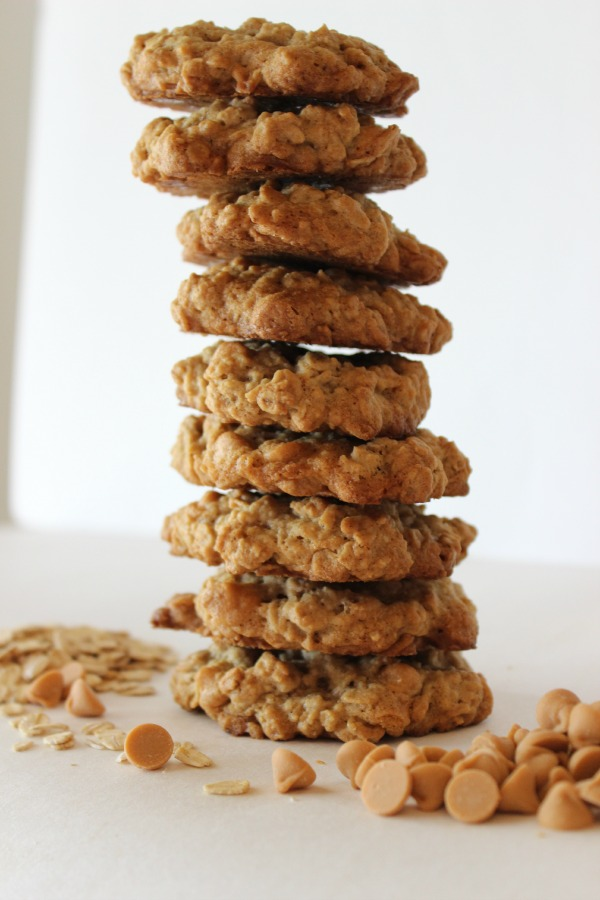 Chewy Oatmeal Butterscotch Cookies