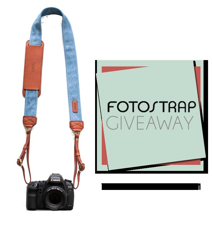 fotostrap camera strap giveaway!