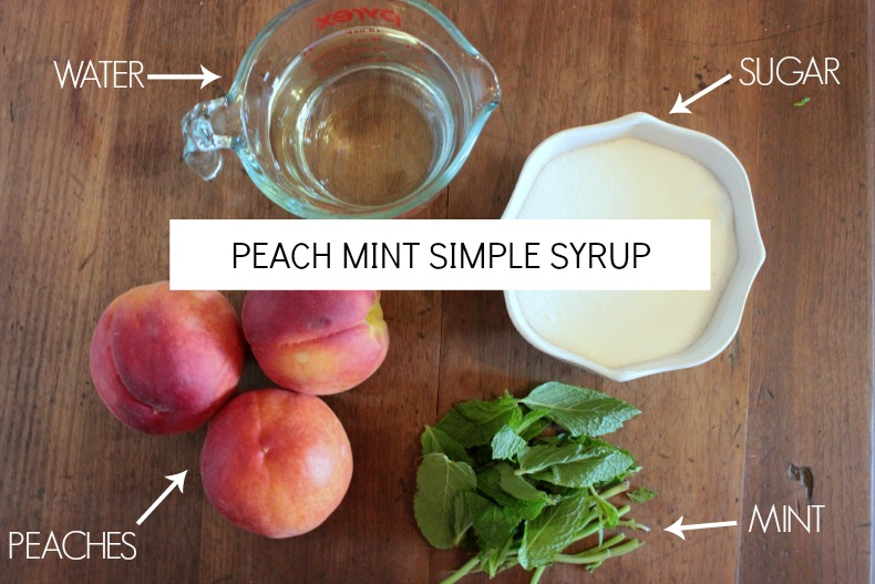 delicious & summery homemade peach mint syrup