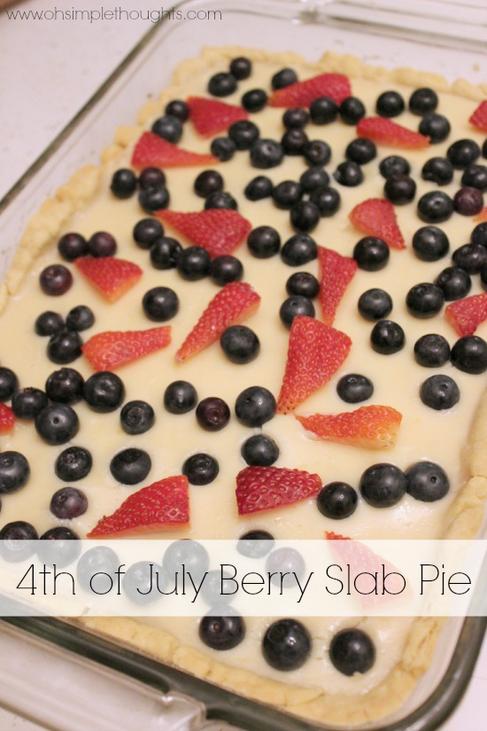 Perfect pie to celebrate America! Berry Slab Pie!