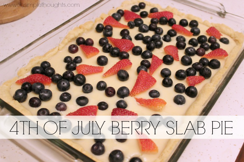 Yummy Berry Pie, patriotic and perfect for the 4th of July!