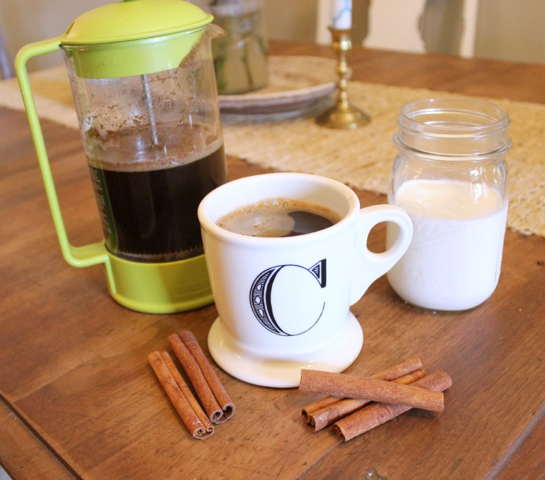 Delicious Vanilla Cinnamon French Press Coffee! Make it at home with ingredients you are sure to have on hand!