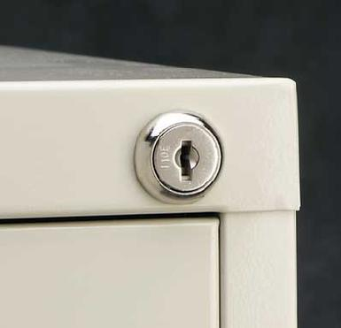 File Cabinet Key cut by code at The Keyless Shop.